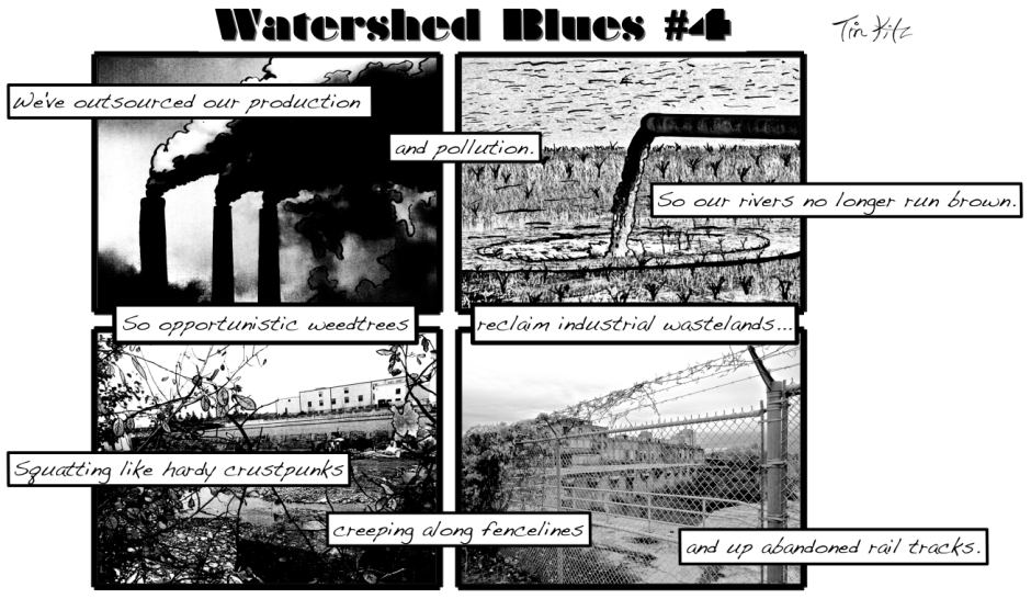 Watershed Blues #4 11x8 Landscape